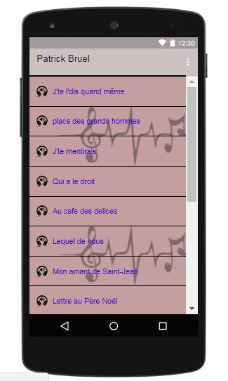 Patrick Bruel Songs Of Place Des Grands Hommes For Android