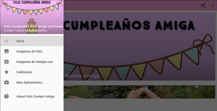 Feliz Cumple Amiga con Frases screenshot 2