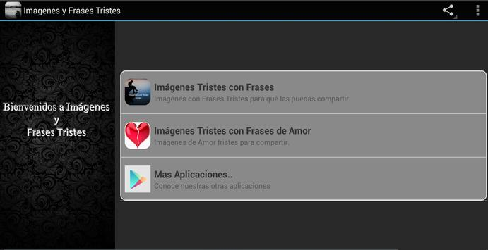 Imagenes y Frases Tristes apk screenshot