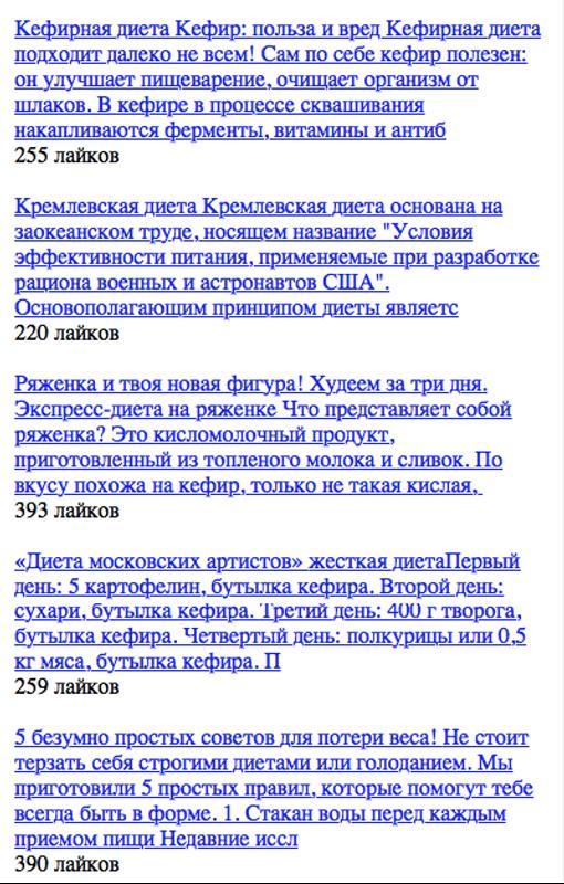 Кремлевская диета для похудения: таблица продуктов, меню.