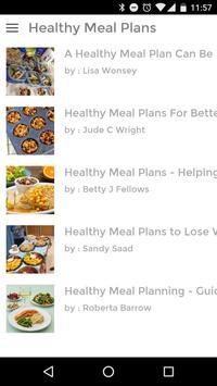 HEALTHY MEAL PLANS screenshot 8