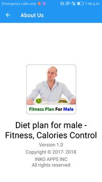 Diet plan for male - Fitness, Calories Control screenshot 2