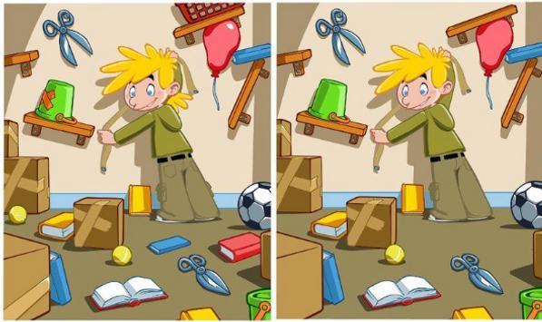 لعبة الاختلافات بين الصورتين مراحل كثيرة screenshot 1