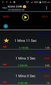 VMail Voice mail+Call Recorder apk screenshot