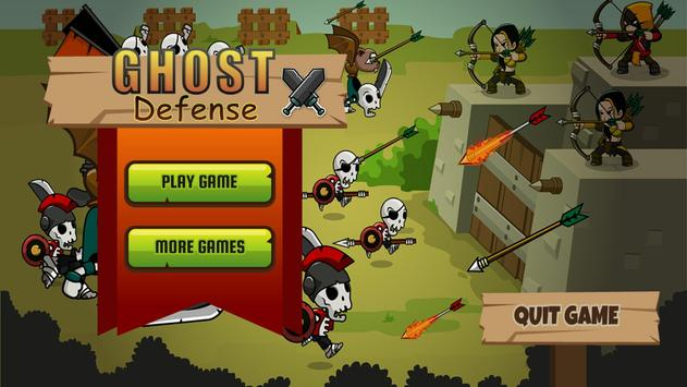 Ghost Defense: Zombie Ghosts Defense Game 🏹 poster