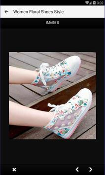 Women Floral Shoes Style poster