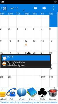 Calendar 2015 UK screenshot 1