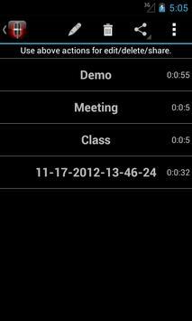 Voice Memos screenshot 3