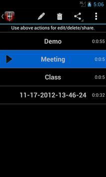 Voice Memos screenshot 4