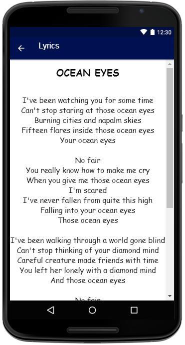 Billie Eilish Songs Lyrics for Android - APK Download
