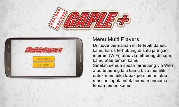 Gaple Plus ( Game Gaple Online Indonesia Terbaru) apk screenshot