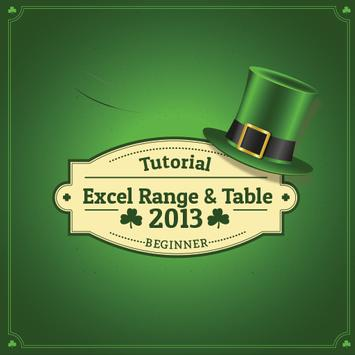Learn Excel Ranges & Tables poster
