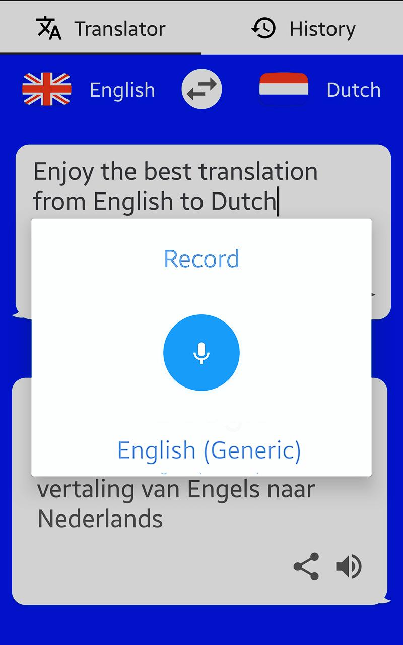 Dutch English Translator Text To Speech For Android Apk Download