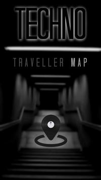 Techno Traveller Map poster