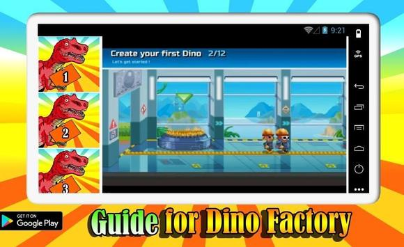 Guide For Dino Factory screenshot 1