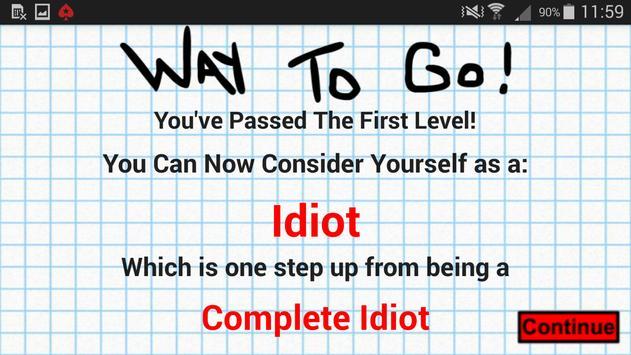 The idiot test 2 apk screenshot