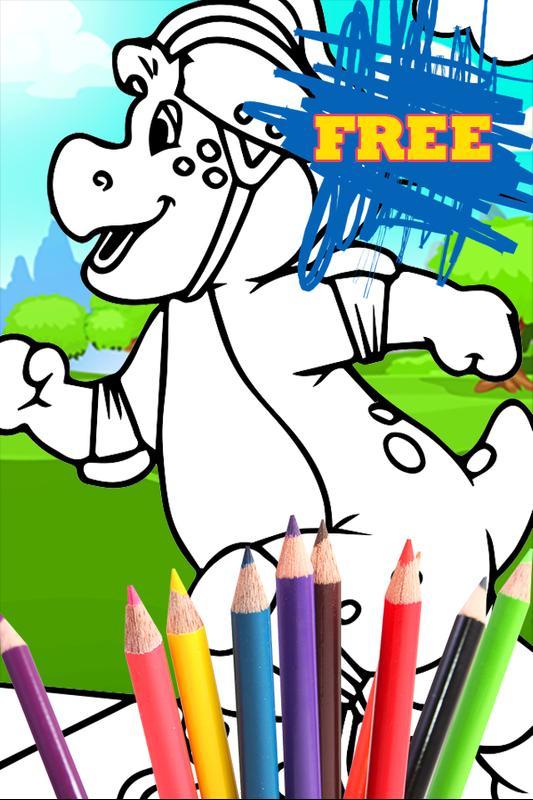 Libro de colorear de Barney Dino for Android - APK Download