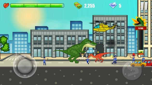 Jurassic Dinosaur: City rampage syot layar 13