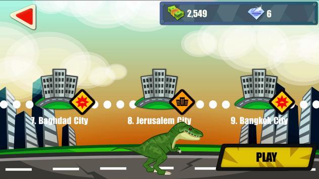 Jurassic Dinosaur: City rampage syot layar 17