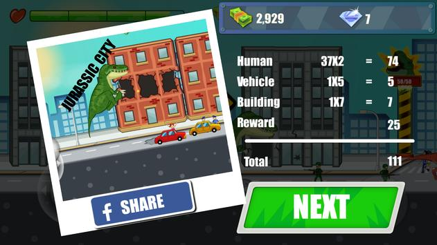 Jurassic Dinosaur: City rampage screenshot 11