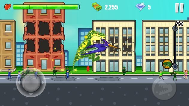 Jurassic Dinosaur: City rampage syot layar 19