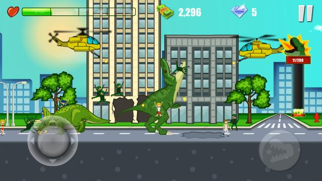 Jurassic Dinosaur: City rampage screenshot 7