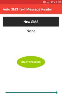 Auto SMS Text Message Reader apk screenshot