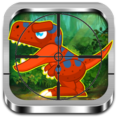 Dinosaur dinosaur hunting icon