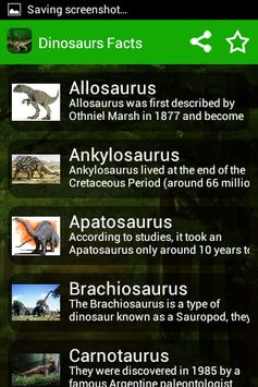 Kids Dinosaur Pictures & Facts poster