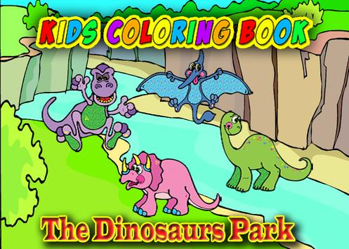 Dinosaur Coloring Book For Kid poster