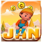 Jan Run Cartoon icon