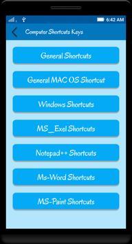 Computer Shortcut Keys poster