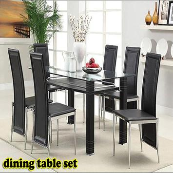 Dining table set poster