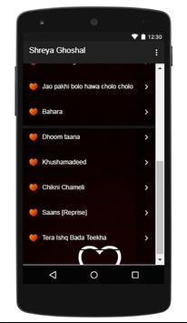 Shreya Ghoshal  - Dhadkane Azad Hain apk screenshot