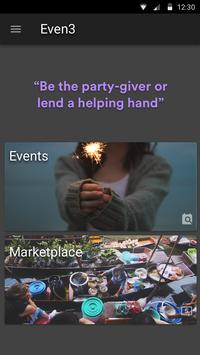 Even3App: Events-Vendors Match screenshot 1