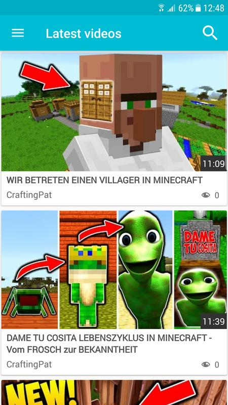 CraftingPat Video For Android APK Download - Spiele minecraft nicht um 3 uhr nachts