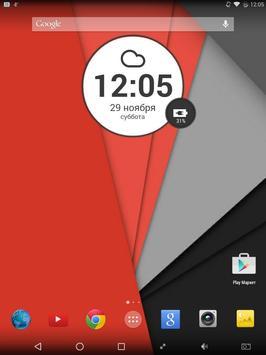 Lollipop Round 2 Zooper Widget apk screenshot