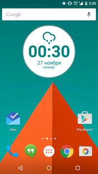 Lollipop Round Zooper Widget apk screenshot