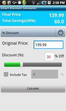 Smart Discount Calculator poster