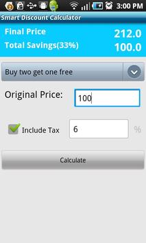 Smart Discount Calculator apk screenshot