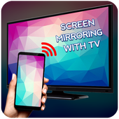 Screen Mirroring with TV icon