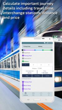 Singapore Metro Guide and MRT & LRT Route Planner apk screenshot