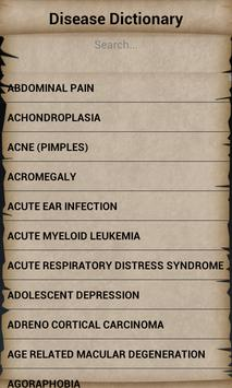Disease Dictionary screenshot 1