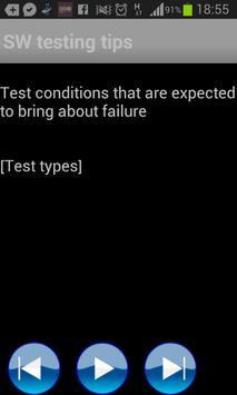 SW testing tips apk screenshot