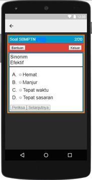 Kumpulan Soal Ujian SBMPTN 2018 apk screenshot