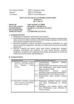 RPP Prakarya Budidaya Smstr 1 Kls 7 apk screenshot