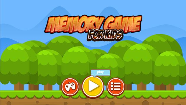 Memory Game - Brain Storming Game for Kids poster