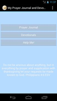 My Prayer Journal and Devotion poster