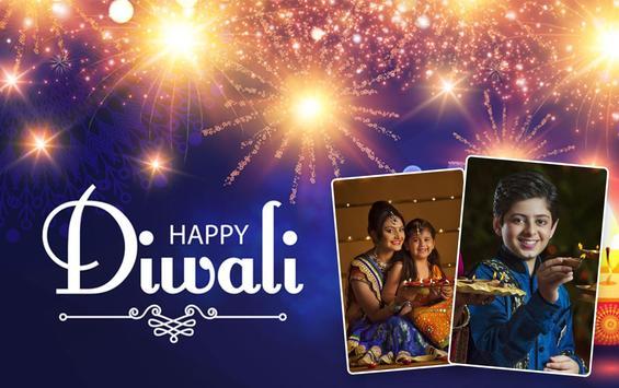 Diwali Dual Photo Frames poster