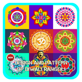 Design and Pattern of Diwali Rangoli icon